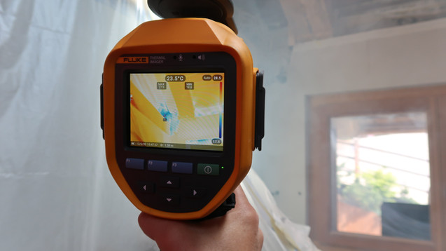 Examens thermographique de l'enveloppe des bâtiments