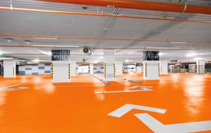Revêtement décoratif et haute résistance pour parking avec teintes spéciales