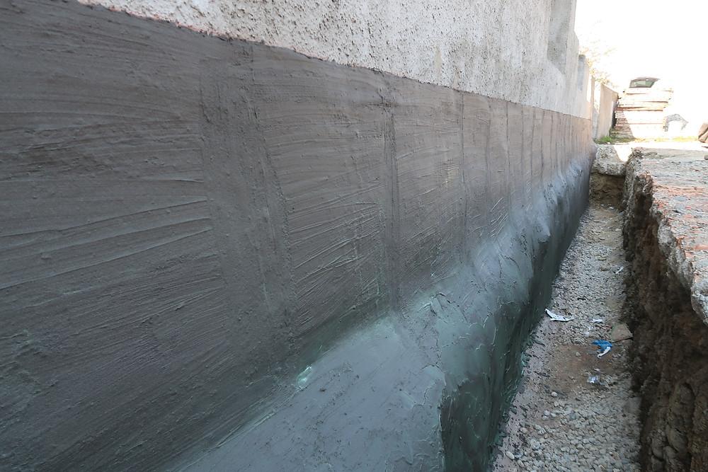 Etanchéité spécial murs enterré pour conservation de bâtiments historiques