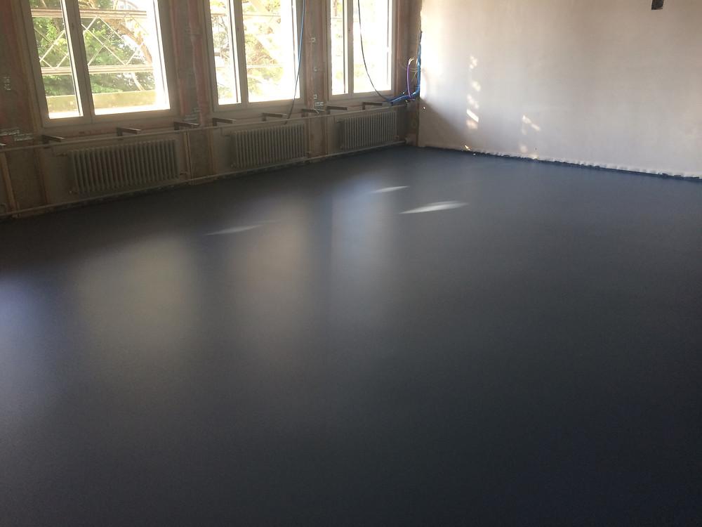 Sol polyuréthane dur pour salle de classe d'école professionnelle