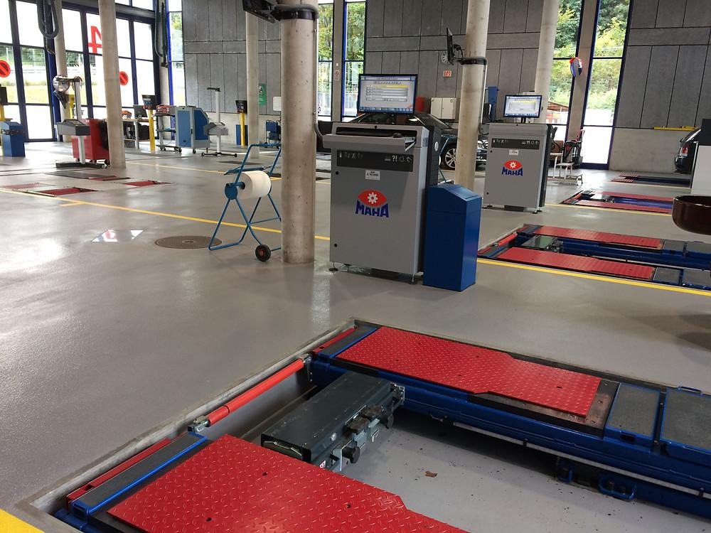 Sol Epoxy haute résistance atelier test TCS