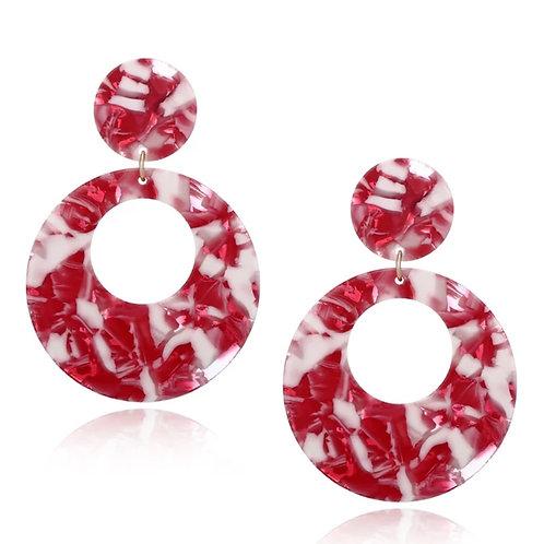 Acrylic Marble Earrings