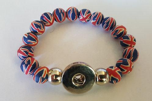 Blue/Red British Looking Bracelet
