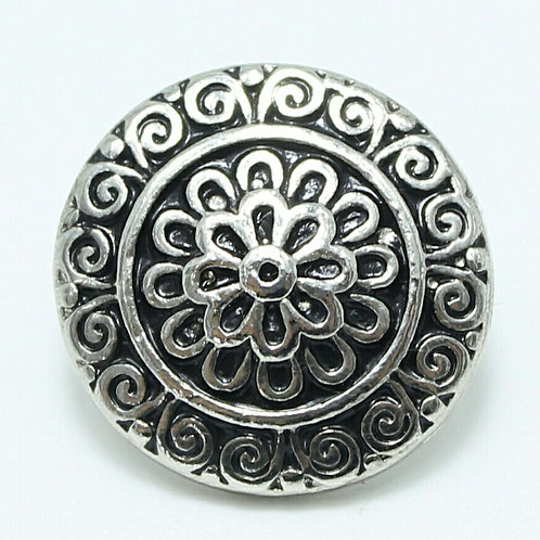 Silver Floral Snap