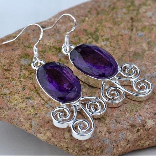 Purple Swirl Earrings