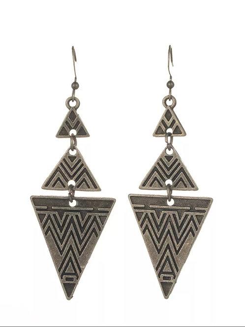 Triangle Layered Earrings