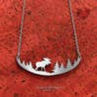 Moose in the Woods Necklace