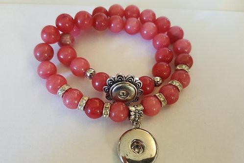 Rose Wrap Beaded Bracelet