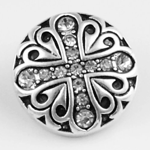 Rhinestone Cross Snap