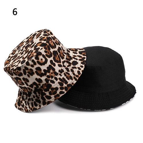 Reversible Leopard Bucket Hat