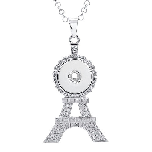 Eiffel Tower Snap Necklace