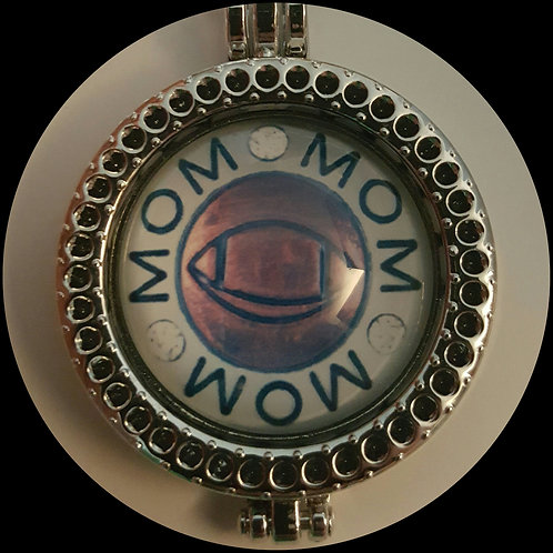 Football Mom Coin Locket