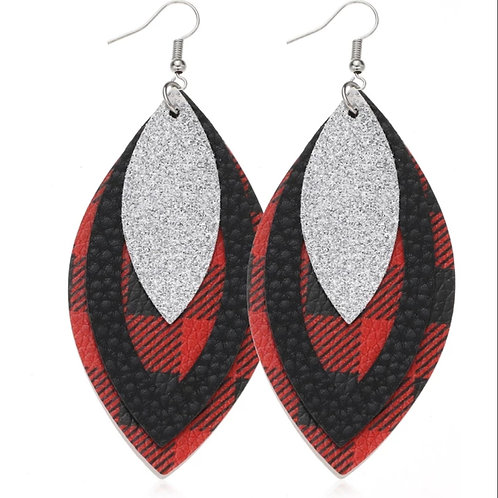 Buffalo Check Earrings