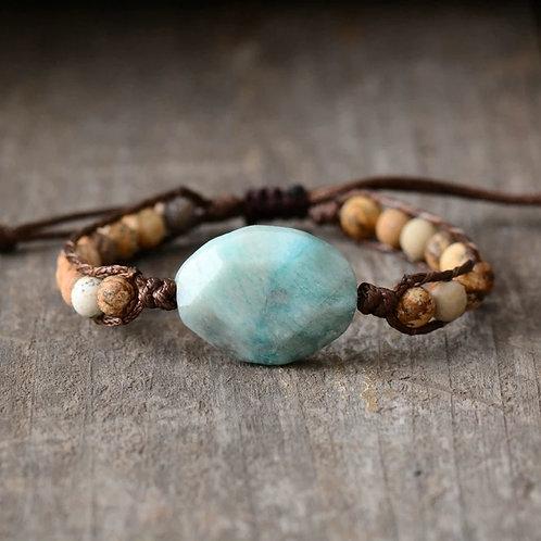 Boho Jasper Amazonite Bracelet