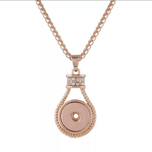 Rose Gold Rhinestone Necklace