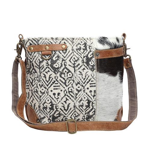Hairon & Cotton Rug Shoulder Bag