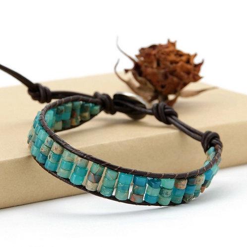 Disk Shape Natural Stone Bracelet