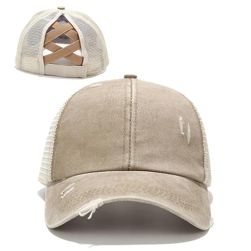 Distressed Ponytail Baseball Cap