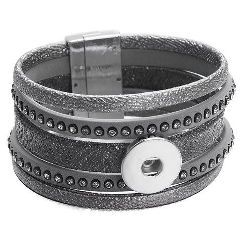 Dark Gray Snap Bracelet