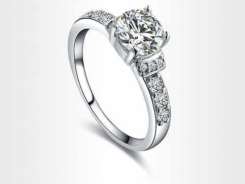 Platinum Cubic Zirconia Ring