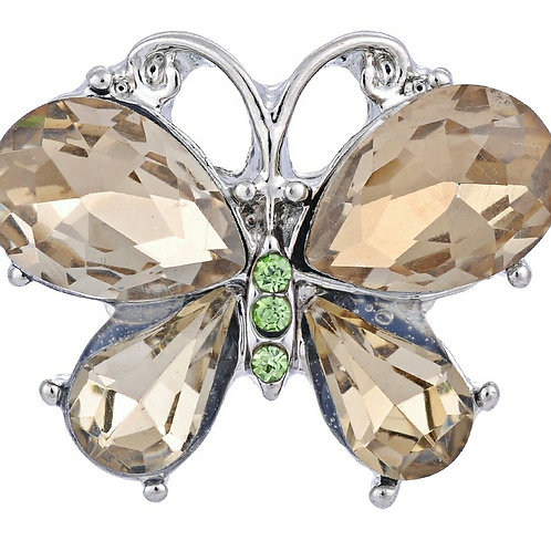 Gold Rhinestone Butterfly Snap