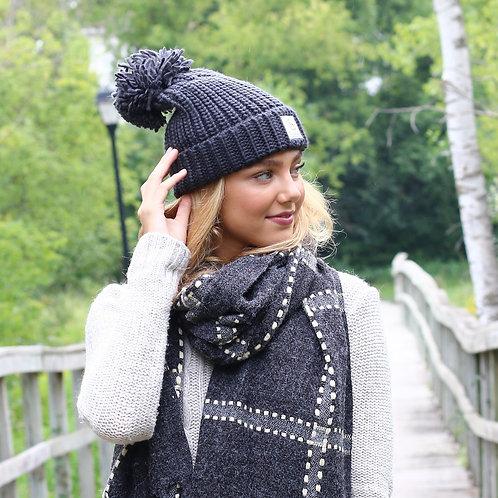 Black Message Knit Beanie - Selfless