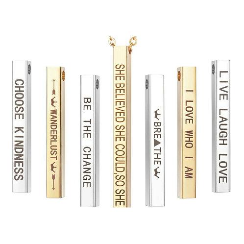 Choose Kindness Mantra Necklace