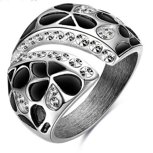 Petal Crystal Ring