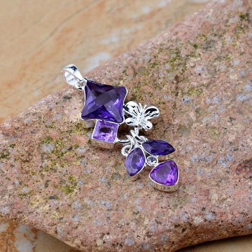 Purple Butterfly Bliss Pendant/Necklace