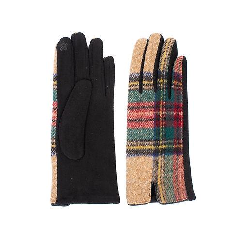 Tartan Plaid Touch Screen Gloves