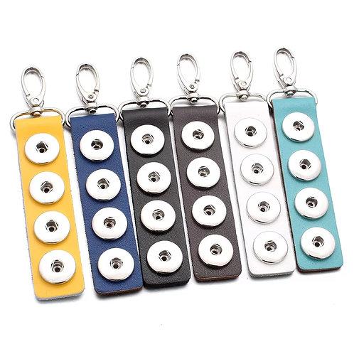 Leather Snap Keychain/Purse/Belt Decor