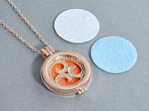 Rhinestone Swirl Diffuser Necklace
