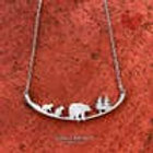 Mother Bear and 2 Cubs Necklace