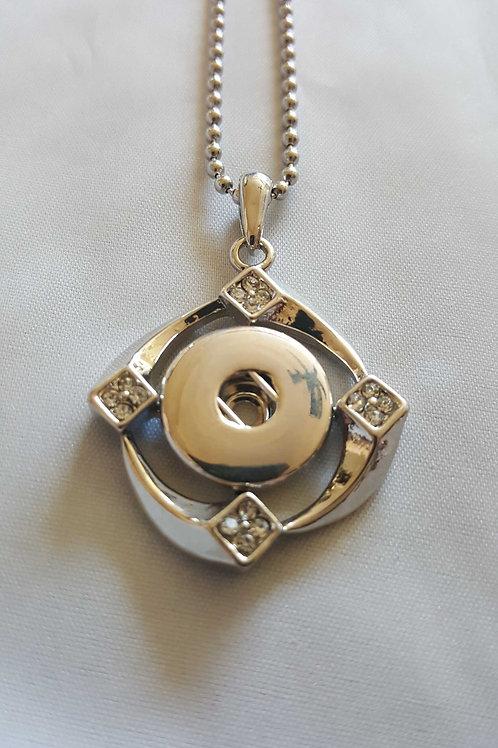 Rhinestone Swirl Necklace