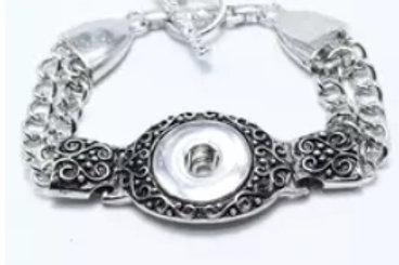 Heart Snap Bracelet