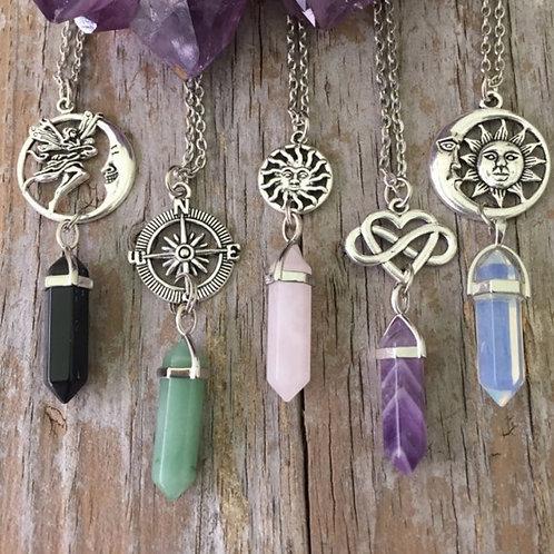 Opalite Sun & Moon Necklace