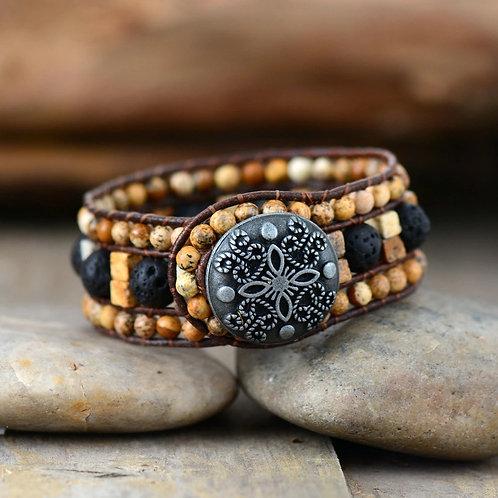 Jasper Lava Stone Bracelet