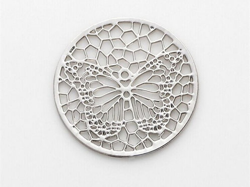 Silver Coin for Memory Locket