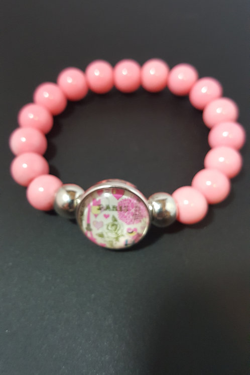 Cotton Candy Pink Beaded Bracelet
