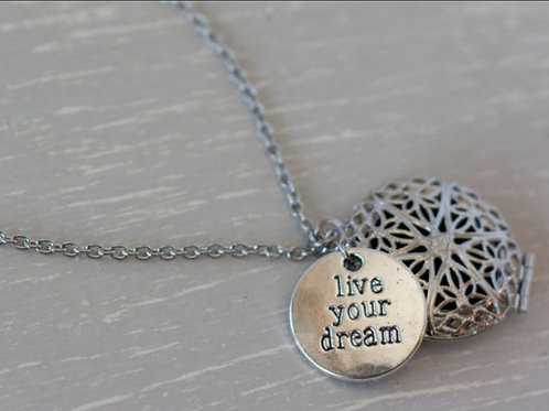 Live Your Dream Diffuser Necklace
