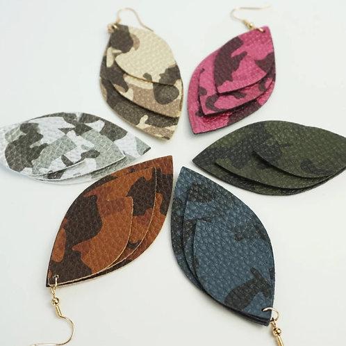 Multilayer Camo Earrings