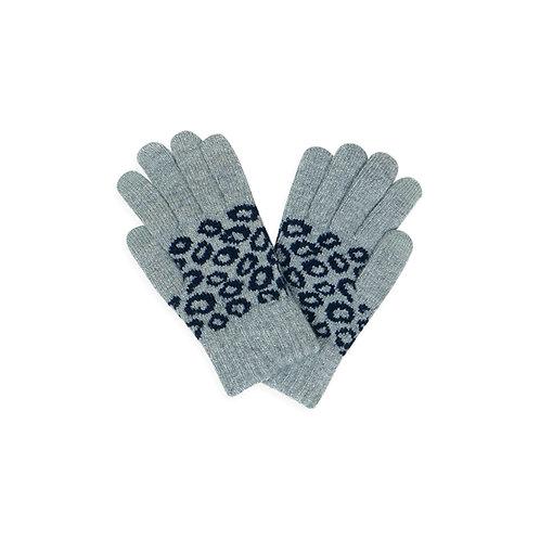 Leopard Knit Smart Touch Gloves