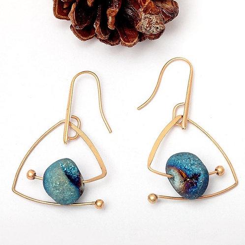 Cosmos Blue Earrings