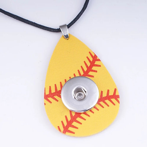 Softball Snap Necklace