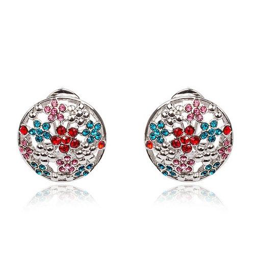 Winter Sweet Flower Rhinestone Earrings