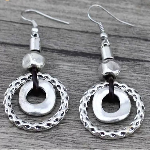 Retro Round Earrings