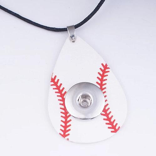 Baseball Snap Necklace