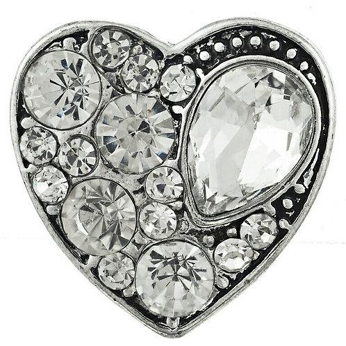Rhinestone Heart Snap