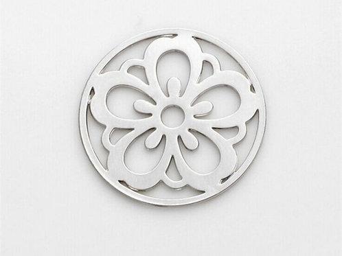 Flower Coin for Memory Locket