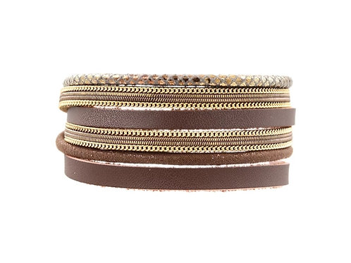 Dark Brown Gold Bracelet